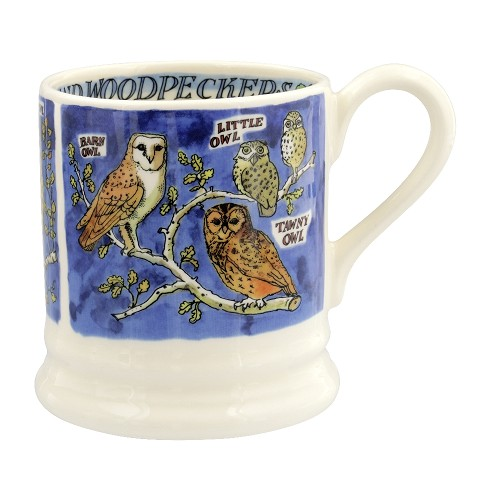 ½ pt Mug Owls & Woodpeckers
