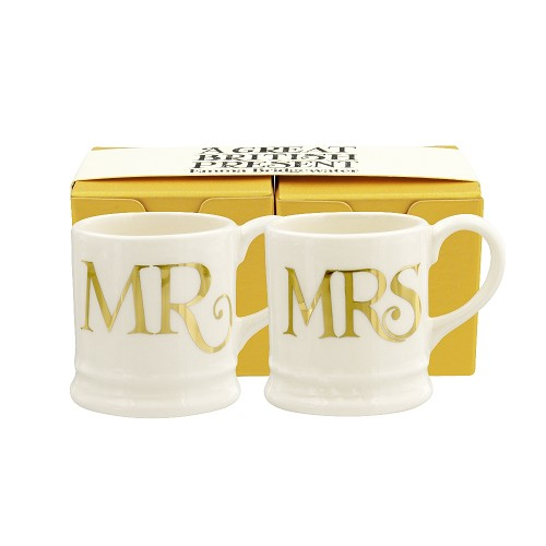 Tiny Mug Mr & Mrs Gold