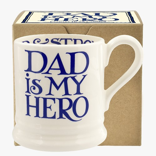 ½ pt Mug Dad is my hero Blue