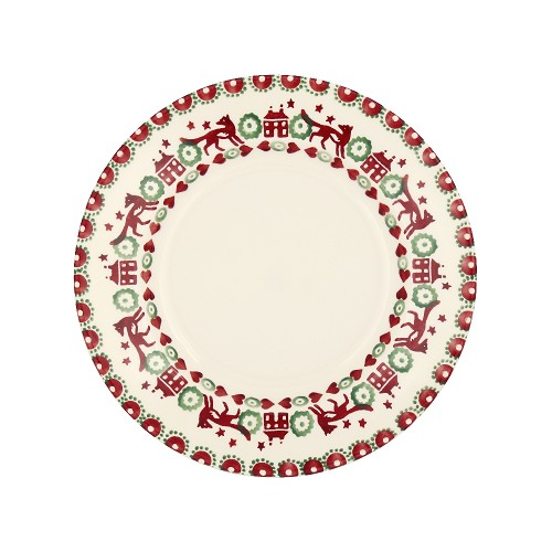 8½'' Plate Red & Green