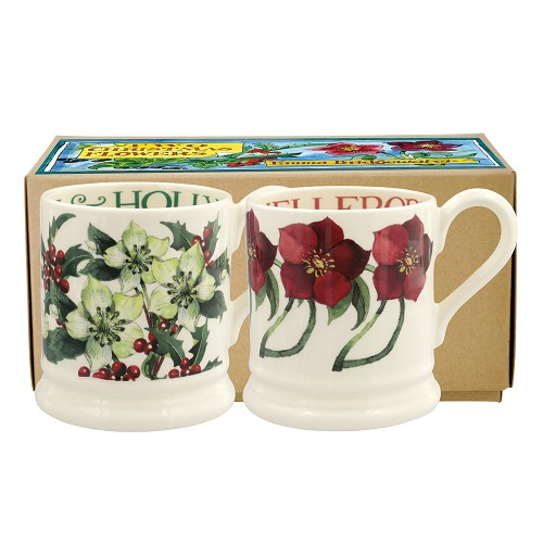 Boxed ½ Pt. Mugs Winter Flowers 2018