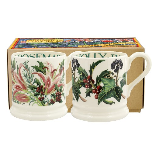 Boxed ½ Pt. Mugs Winter Flowers 2019