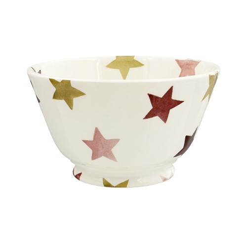 Small Old Bowl Pink & Gold Stars