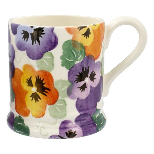 ½ pt Mug Purple Pansy
