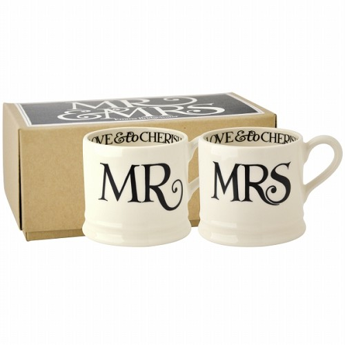 Babymug set Mr & Mrs  Black Toast