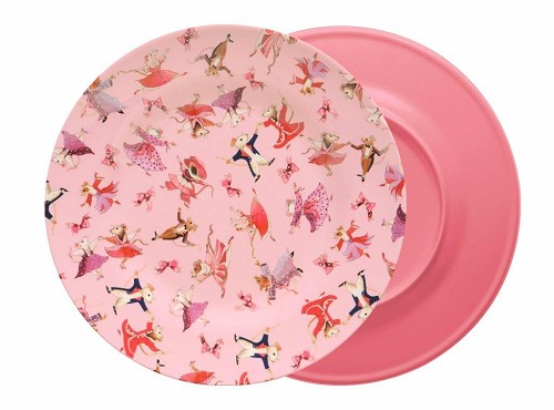 Melamine Dinner Plate Dancing Mice