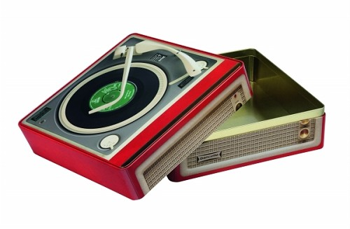 Record Player tin