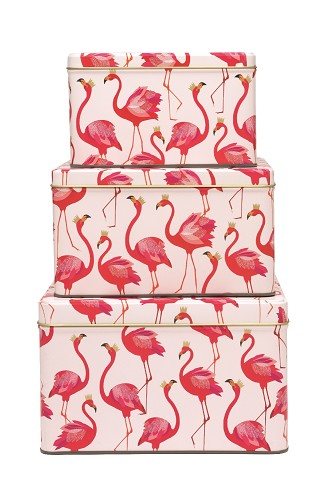Flamingo Square Cake Tins s/3
