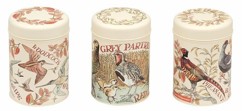 Set of 3 Caddy Tins Game Birds