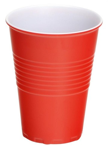 4 X Melamine Cup Red