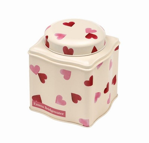 Dome Lid Wavy Caddy Pink Hearts
