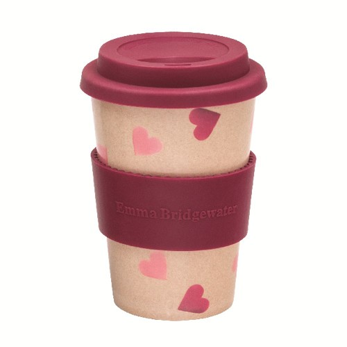 Rice Husk Cup Pink Hearts