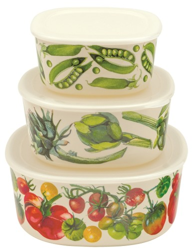 Melamine set of 3 Containers Veg. Garden