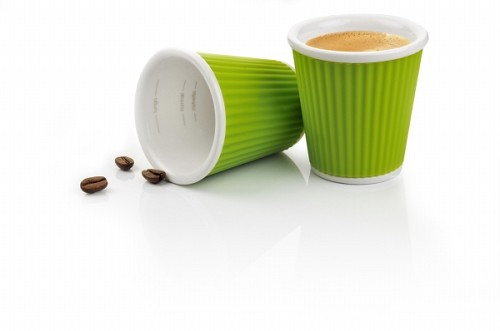 Set of 2 Espresso Cups 10cl Light Green