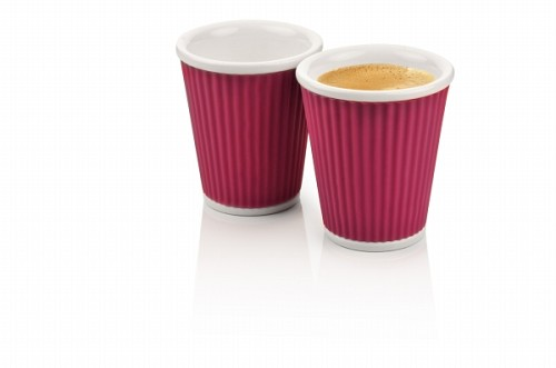 Set of 2 Coffee Cups 18cl Eggplant