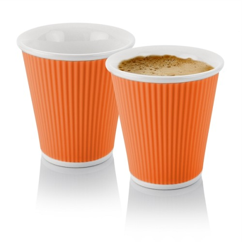 Set of 2 Espresso Cups 10cl Orange