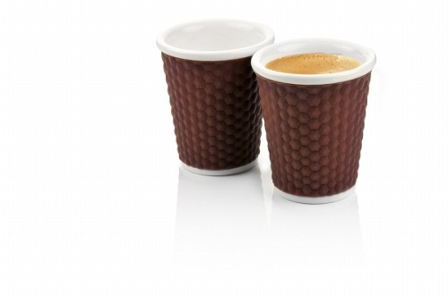 Honeycombs Coffee Cups 18cl Brown