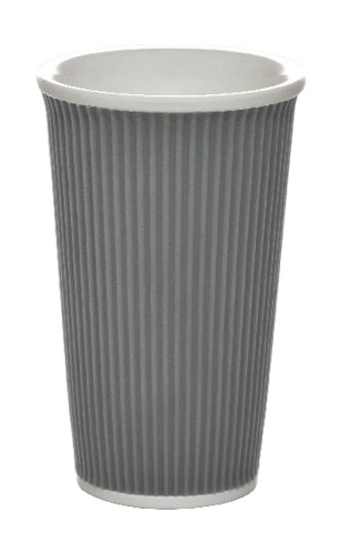 Coffee Cups 45cl Dark Grey