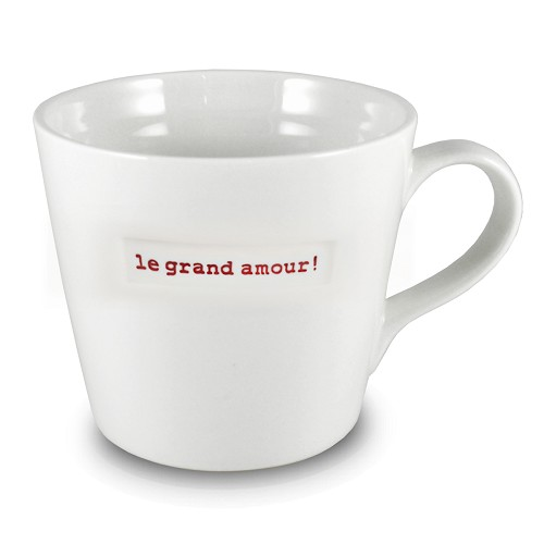 XL Bucket Mug 1e grand amour!