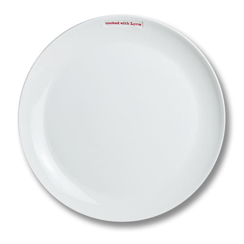 "Large Plate ""Cooked with Love"""