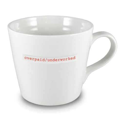 XL Bucket Mug overpaid/underworked