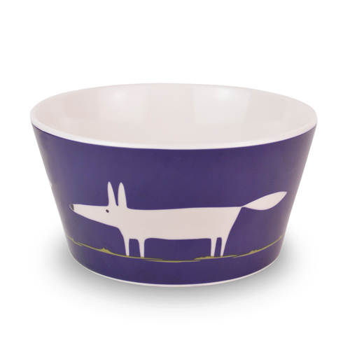 Cereal Bowl Mr Fox - indigo
